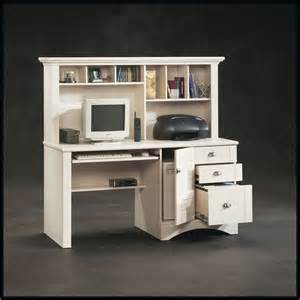 white desk with hutch sauder harbor view computer desk with hutch antiqued white