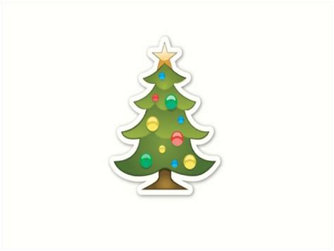 emoji xmas tree quot christmas tree emoji christmas quot art prints by rad merch