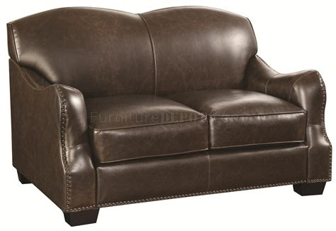 501781 chesapeake sofa in brown bonded leather match by
