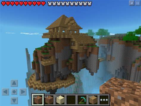minecraft pe houses w2 floating house in minecraft pe minecraft pinterest