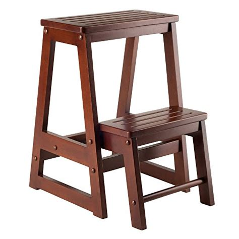 Winsome Wood Step Stool by 32 On Winsome Wood Step Stool Antique Walnut