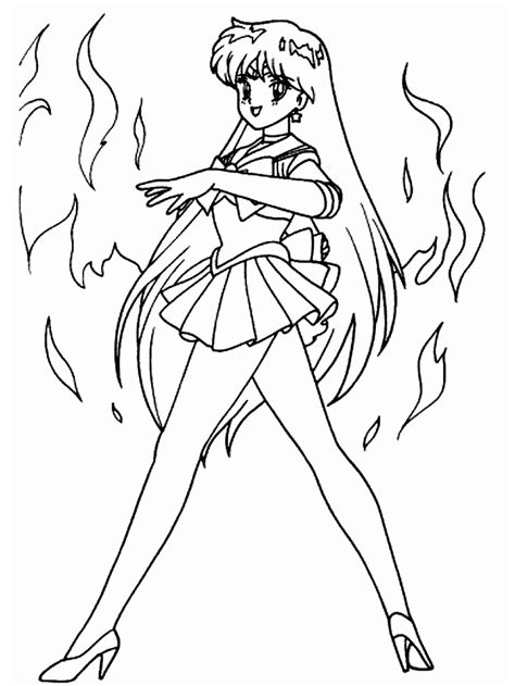 sailor mars coloring pages coloring home