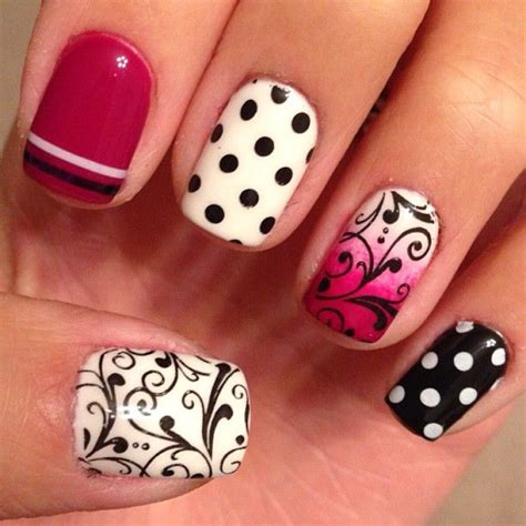 Nail Different Designs On Each Finger