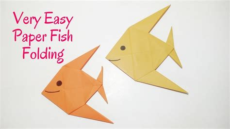 Make A Paper Fish - easy origami fish how to make a paper fish diy origami
