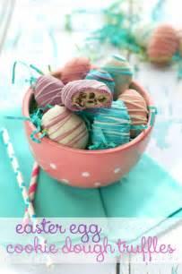 Easter egg cookie dough truffles www wineandglue com beautiful on