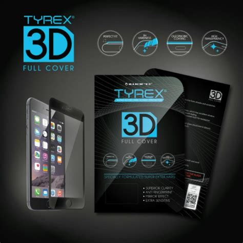Tempered Glass Tyrex Iphone 6 jual tyrex iphone 7 3d cover tempered glass screen protector black indonesia original