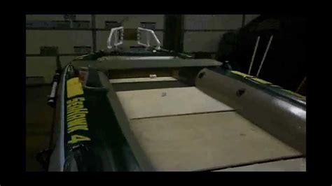 inflatable boat with wood floor diy intex seahawk 4 inflatable custom bass boat mod doovi