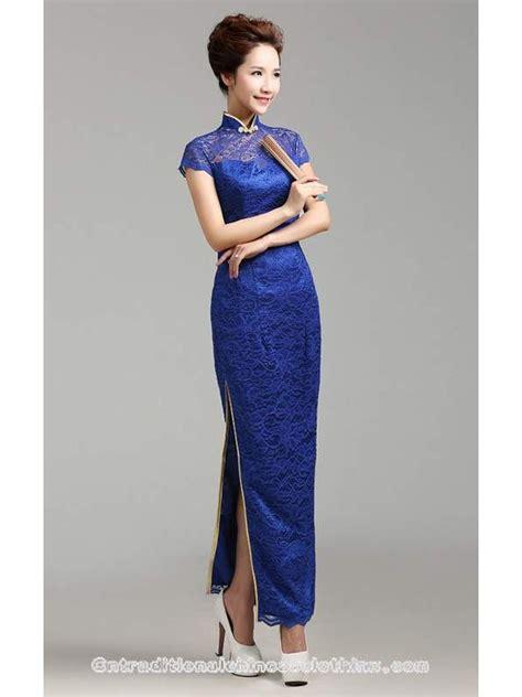 Mandarin Collar Sleeve Dress cap sleeve blue lace mandarin collar dress