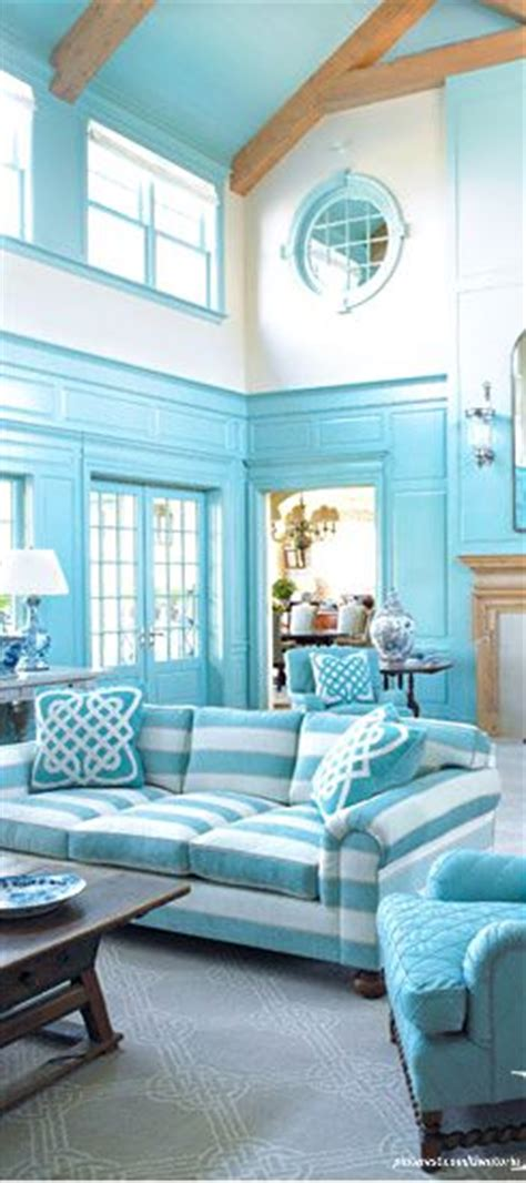 Turquoise Living Room And Kitchen Bright Bold Living Room Beachcottagelife Friends