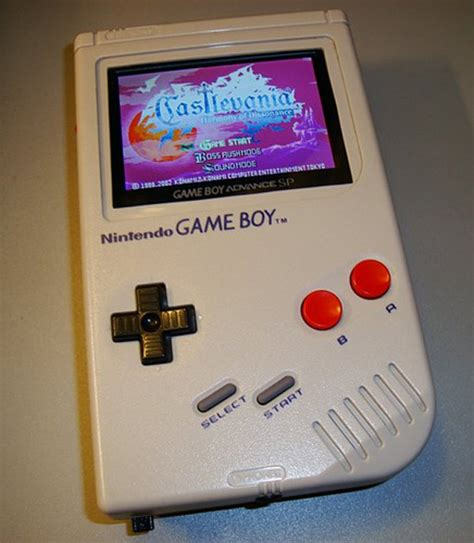 gameboy color screen mod game boy advance sp gets an original gameboy retrofit