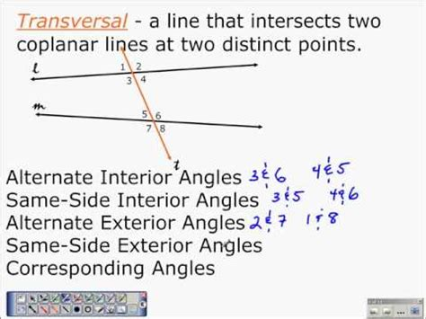 Are Same Side Interior Angles Congruent by Geometry Properties Of Parallel Lines 3 1 Part 2