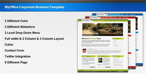 themeforest company profile myoffice corporate business template themeforest