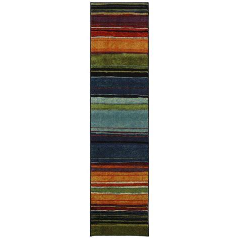 mohawk home rainbow multi 6 ft x 9 ft area rug 512712 mohawk home rainbow multi 2 ft x 8 ft rug runner 183288