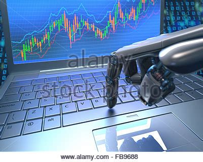 trading robot of automated trading system stock vector art