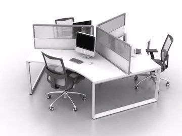 warehouse workstation layout 3 person 120 degree cluster workstation delivery