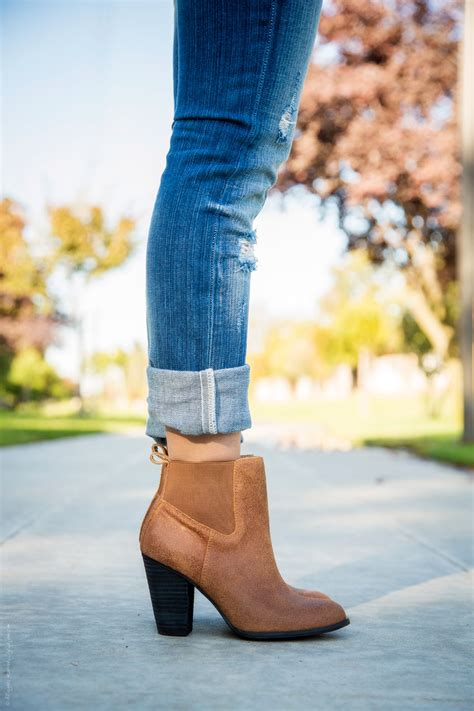 ankle booties on coral necklace