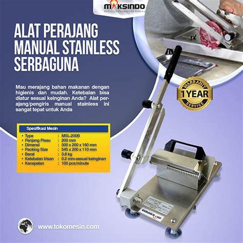 Alat Perajang Bawang Niktech Surabaya jual alat perajang manual stainless serbaguna di surabaya