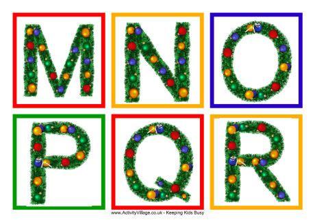 printable alphabet letter tags christmas alphabet tags