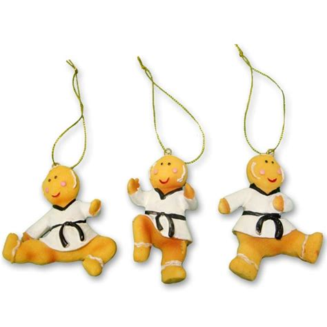 taekwondo gingerbread ornaments tae kwon do ornament set