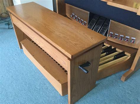 adjustable organ bench showroom dewey kruger music