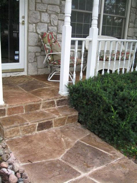 stone front porch step flooring front porch stone front