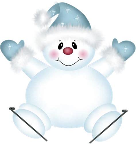 cute snowman clip art cute png snowman with skies clipart pekn 233 obr 225 zky