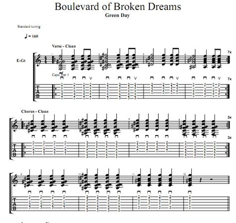 boulevard of broken dreams green day karoke green day boulevard of broken dreams吉他谱 找教案
