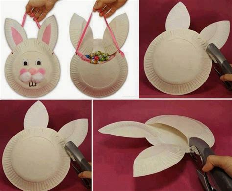 What To Make With Paper Plates - how to make easter paper plate basket pictures photos