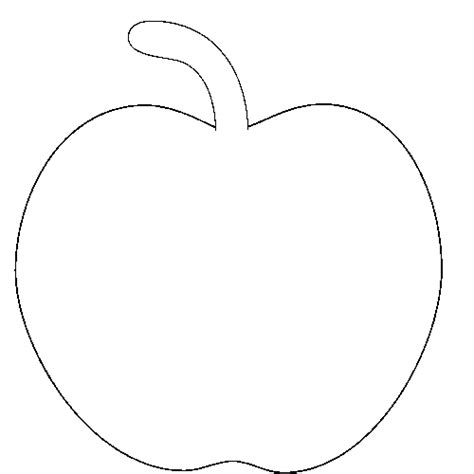 printable apple template cliparts co apple logo outline cliparts co