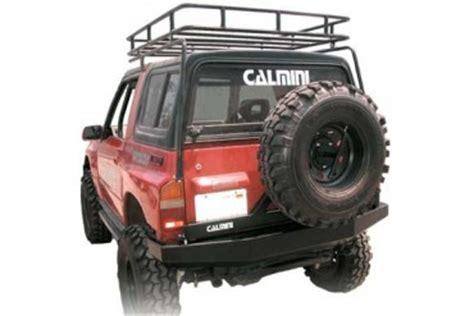 calmini mfg. suzuki samurai front winch bumper in black