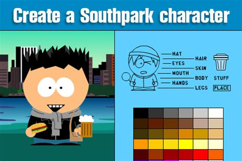 create your own character electrical power engineering make your own south park