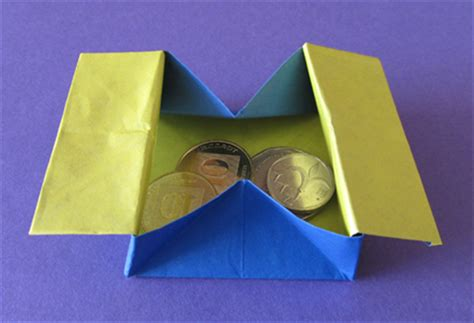 Origami Collapsible Box - how to make a collapsible box or coin purse