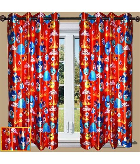 angry birds curtains ellee kids room decor angry birds printed red colour door