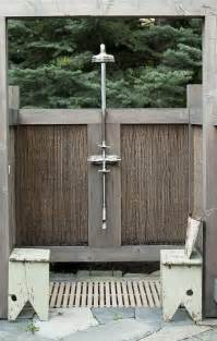 idaho a rustic outdoor shower in sun valley