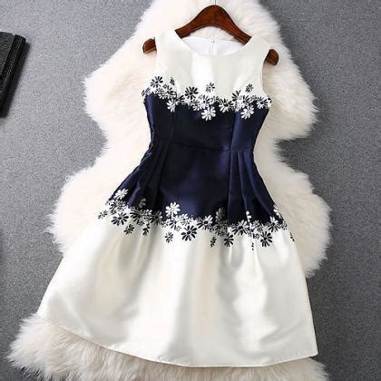 unique round neck sleeveless dress on luulla