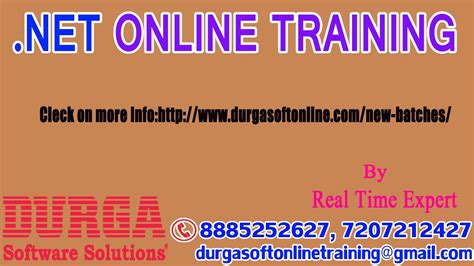 online tutorial net demo on net online training in durgasoft by expert