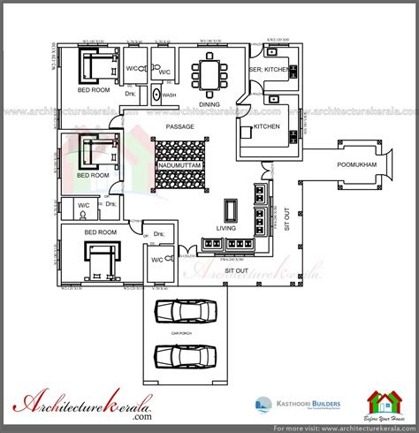 kerala home design layout architecture kerala traditional house plan with