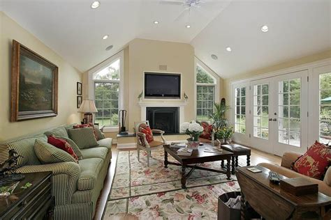 how to decorate a wall how to decorate a large wall with vaulted ceilings simple