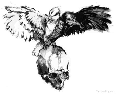 the crow tattoo designs tattoos designs pictures