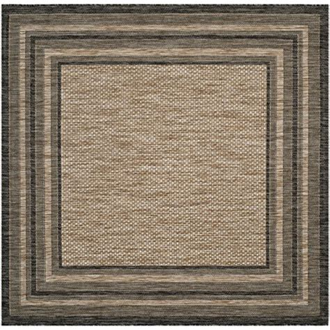 square indoor outdoor rugs safavieh courtyard collection cy8475 37312 and black indoor outdoor square area rug 6