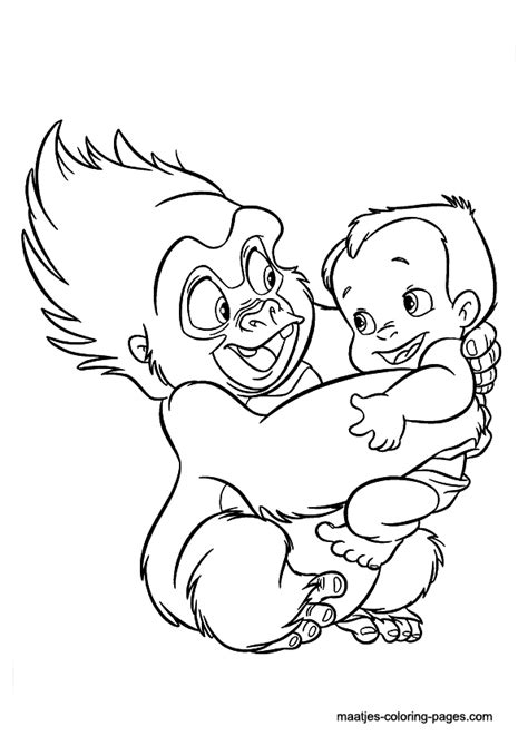 disney coloring pages tarzan tarzan coloring pages little boy kids coloring pages
