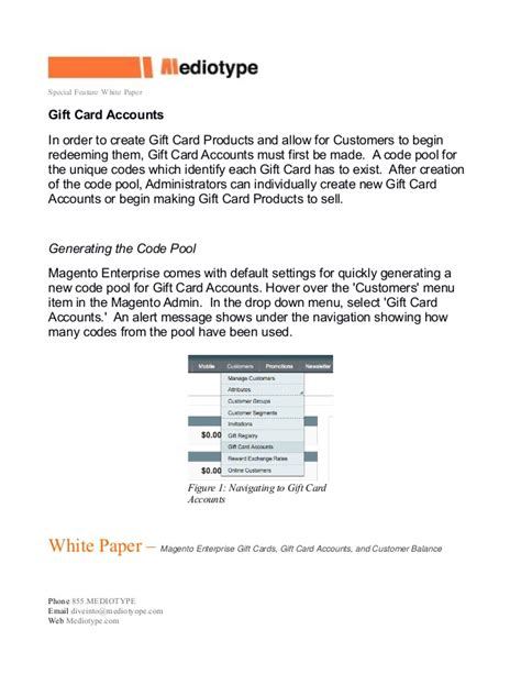 Enterprise Gift Card - mediotype white paper magento enterprise gift cards