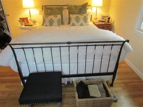 Iron Sleigh Bed Frames Elizabeth Designs New Pillows From World Market Also Found All The Knobs For My