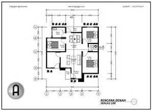 gambar denah rumah kecil satu lantai laksmanacip