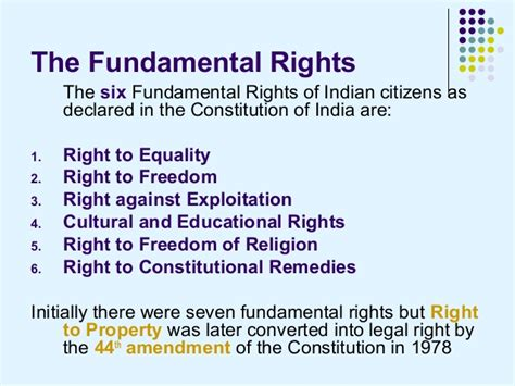 fundamental rights  indian citizens political science study material notes