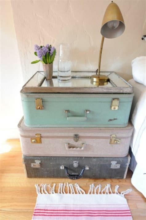 koffer nachttisch vintage koffer bringen viel romantik und nostalgie mit