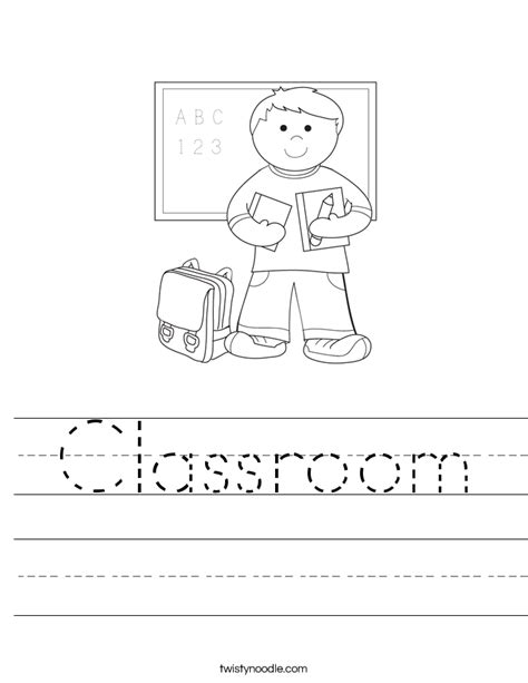 Classroom Worksheets by Classroom Worksheet Twisty Noodle