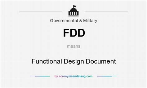 functional layout meaning fdd functional design document in government military
