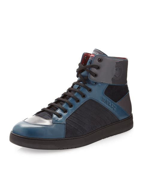 bally sneakers bally milsey hitop sneaker in blue for null lyst