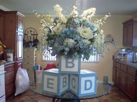 baby boy shower centerpiece for buffet table i bought 3